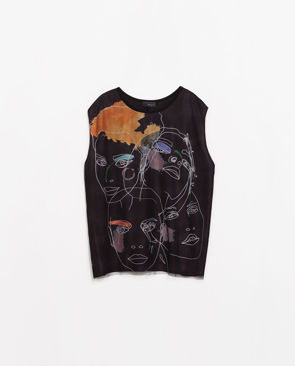 ZARA - WOMAN - FACE PRINT T-SHIRT