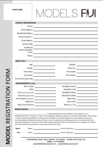 Image Result For Model Registration Form Registration Form