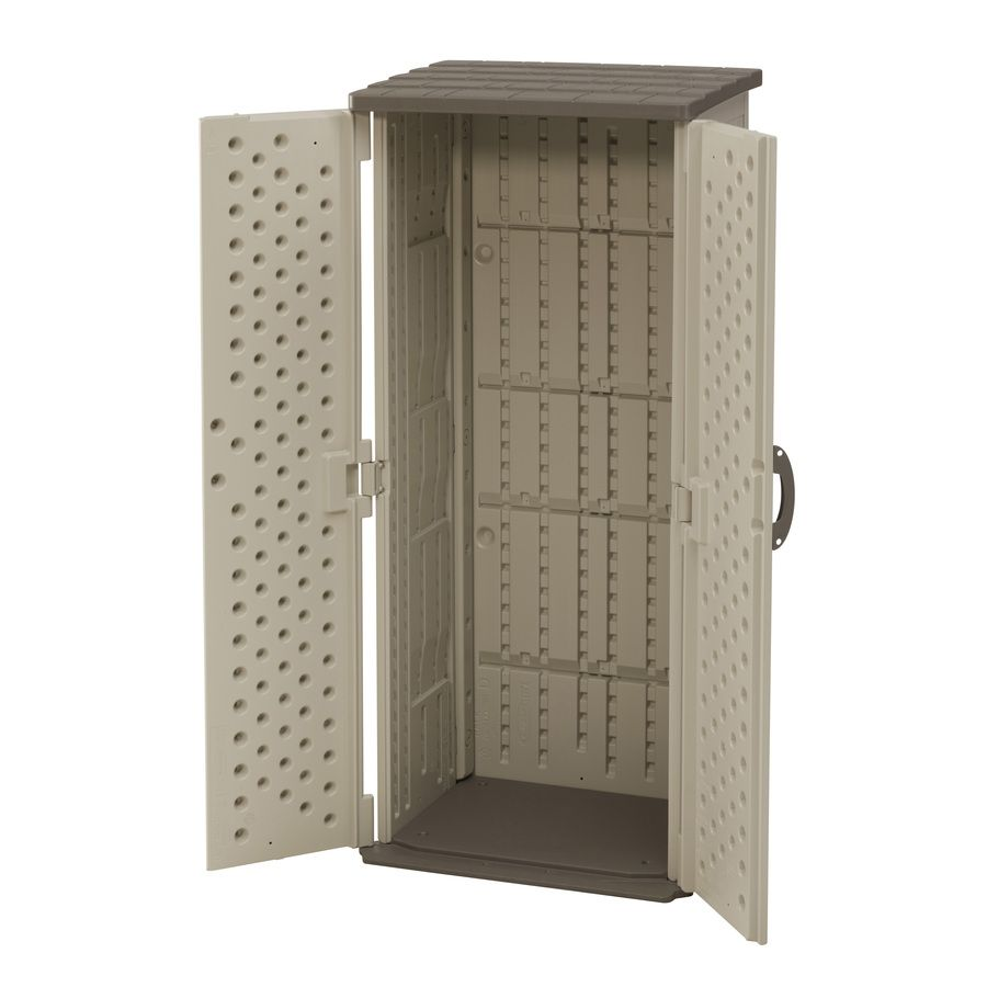Shop Suncast Vanilla Resin Outdoor Storage Shed (Common: 32 25-in x