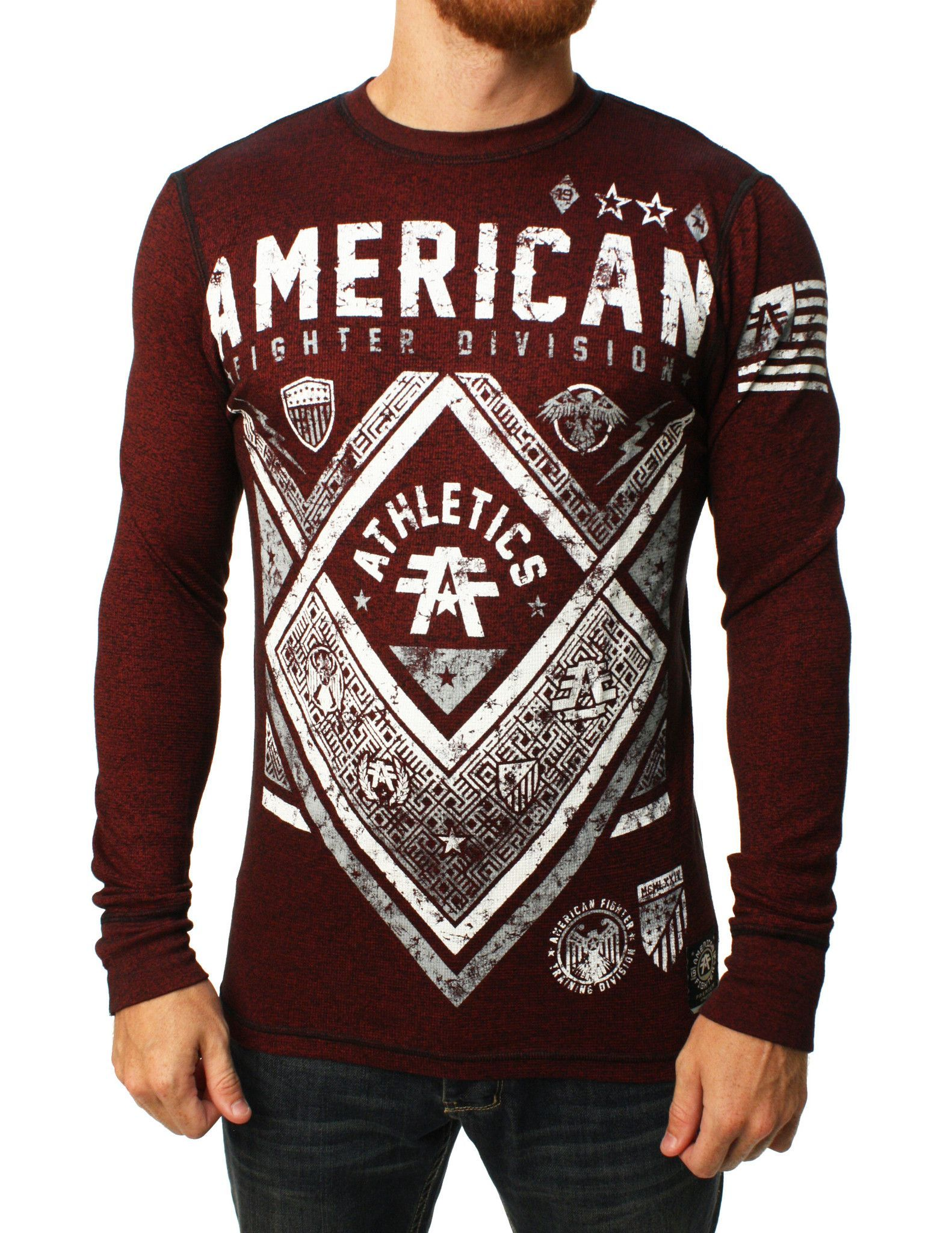 895ecfb5 American Fighter Men's Victory Long Sleeve Thermal Shirt | Presents ...