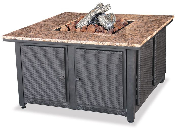 Lp Gas Outdoor Fire Pit Table With Granite Mantle Fire Pits With Images Gas Fire Pits Outdoor Outdoor Fire Pit Table Outdoor Fire Table