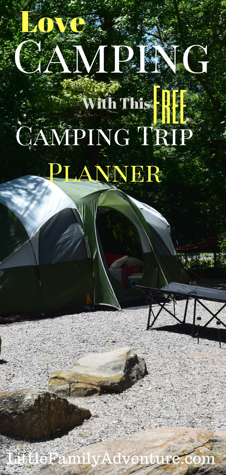 learn to love camping with the help of this free camping trip