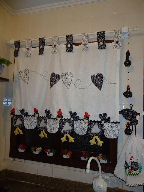 Regador com flores bordado em patchwork para decorar sua cozinha ...