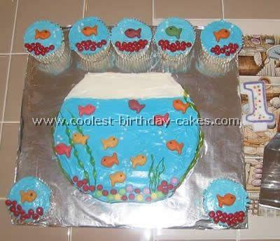 Coolest Aquarium and Fish Birthday Cake Ideas Fish birthday cakes