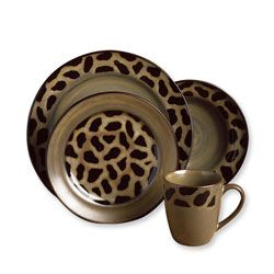 Joseph Abboud Cheetah Dinnerware Set by Joseph Abboud  sc 1 st  Pinterest & Overstock - Make a fashion statement on your dining table with this ...