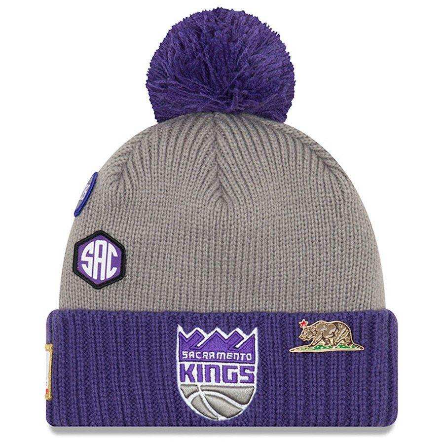 0ea7bb3df Men s Sacramento Kings New Era Gray 2018 Draft Cuffed Knit Hat With ...