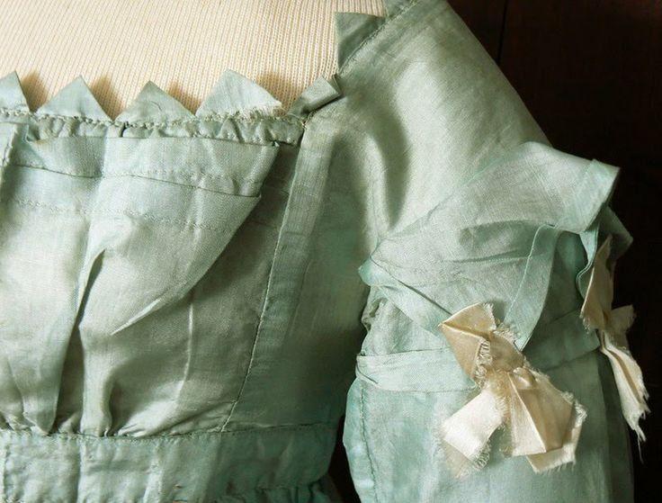 Detail of a ca. 1820 dress sleeve.