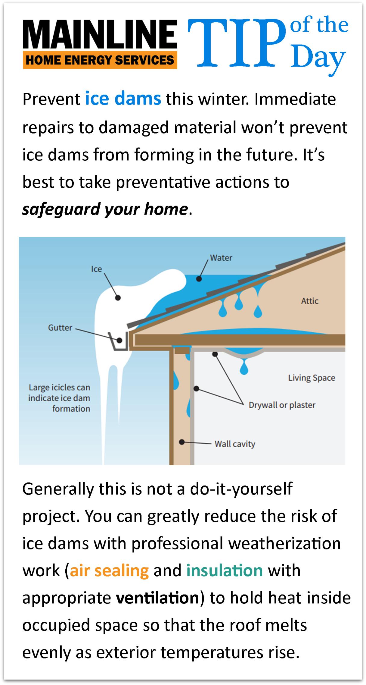 Icedams Icicles Ice Damage Attic Insulation Ice Dams Energy Services