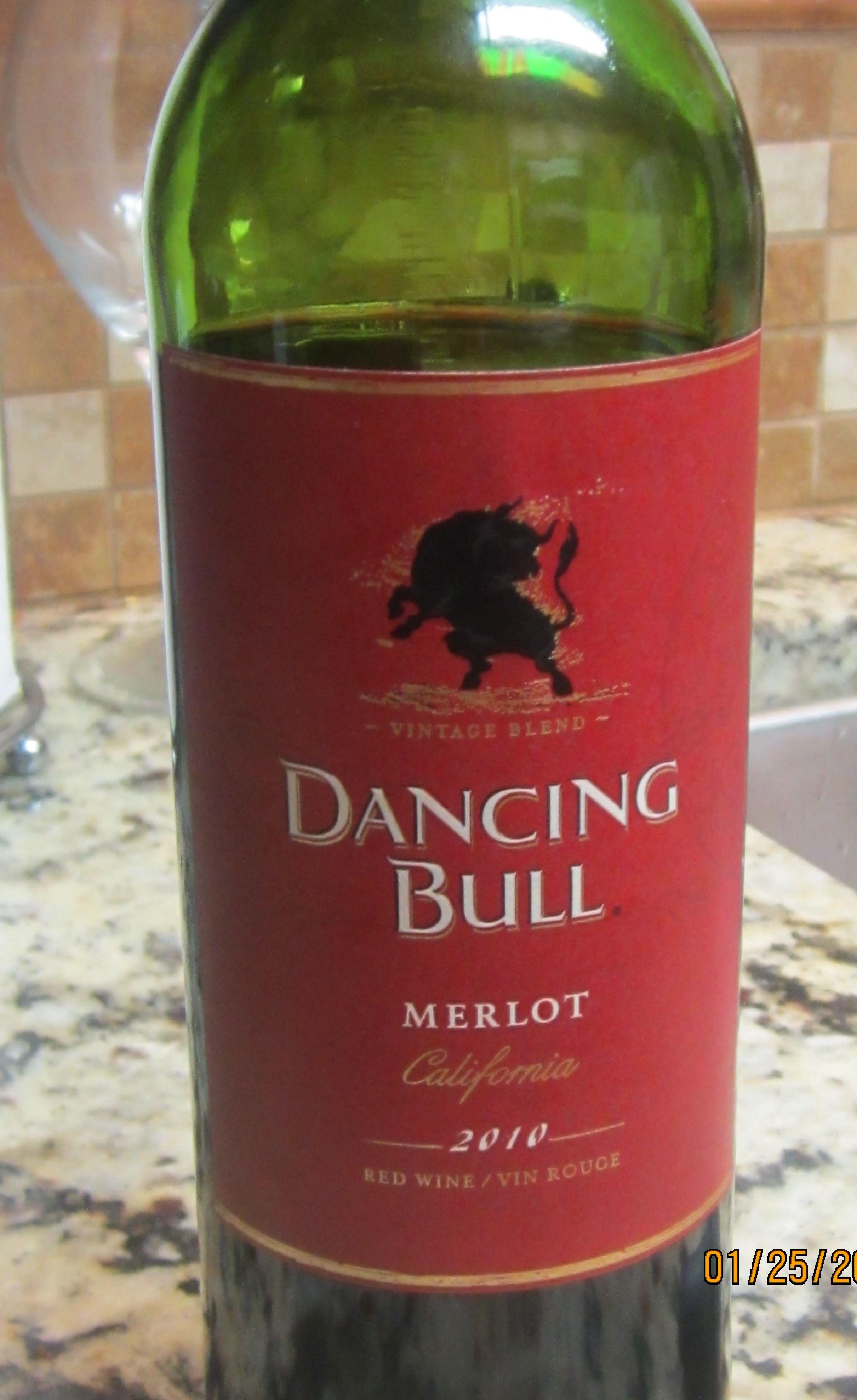 Dancing Bull Merlot Wine Bottle Wines Hubby Love