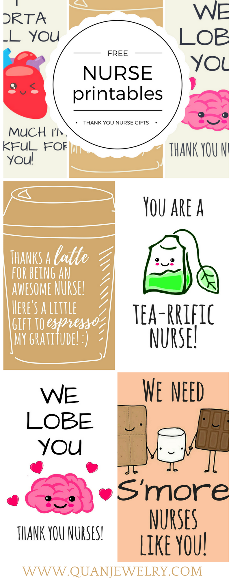 Free Printable Nurse Appreciation Thank You Cards  Gifts For