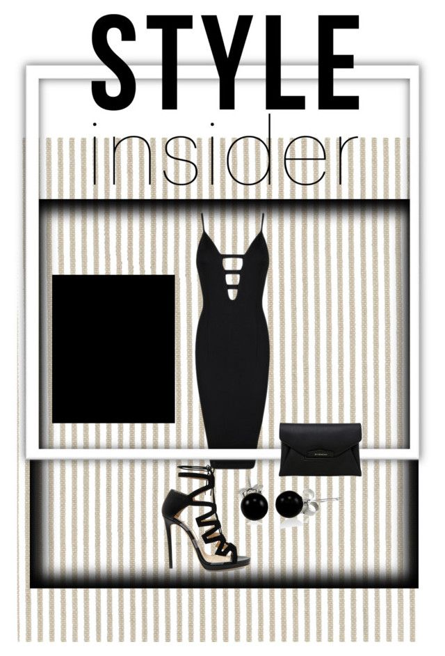 """Black dress-678"" by mykt ❤ liked on Polyvore featuring Serena & Lily, Posh Girl, Bling Jewelry, Jimmy Choo and Givenchy"