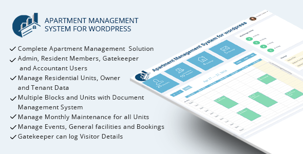 WPAMS - Apartment Management System for wordpress  ⠀  Apartment Management System for wordpress plugin is ideal way to manage complete housing society or neighbourhood maintenance tasks. It has different user roles like Admin, Resident members, Gateke...  ⠀  #apartmentmanagementsolution #codecanyon #dasinfomedia #facilitysoftware #flatmanagement #housingsocietymanagement #maintenancesystem #neighborhood #php #resdentialcommunitysolution #societymember #wordpressplugin #responsive