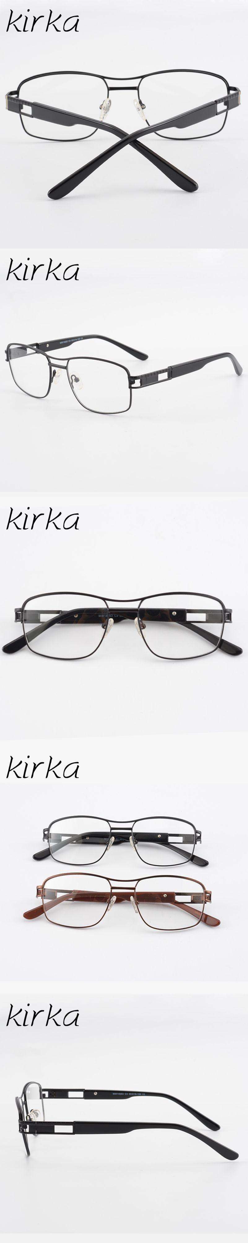 3dc0fa09fb Kirka Black Color Metal Eyewear Optical Eyeglasses Glasses Frame Men Oculos  de grau Male Business Eye