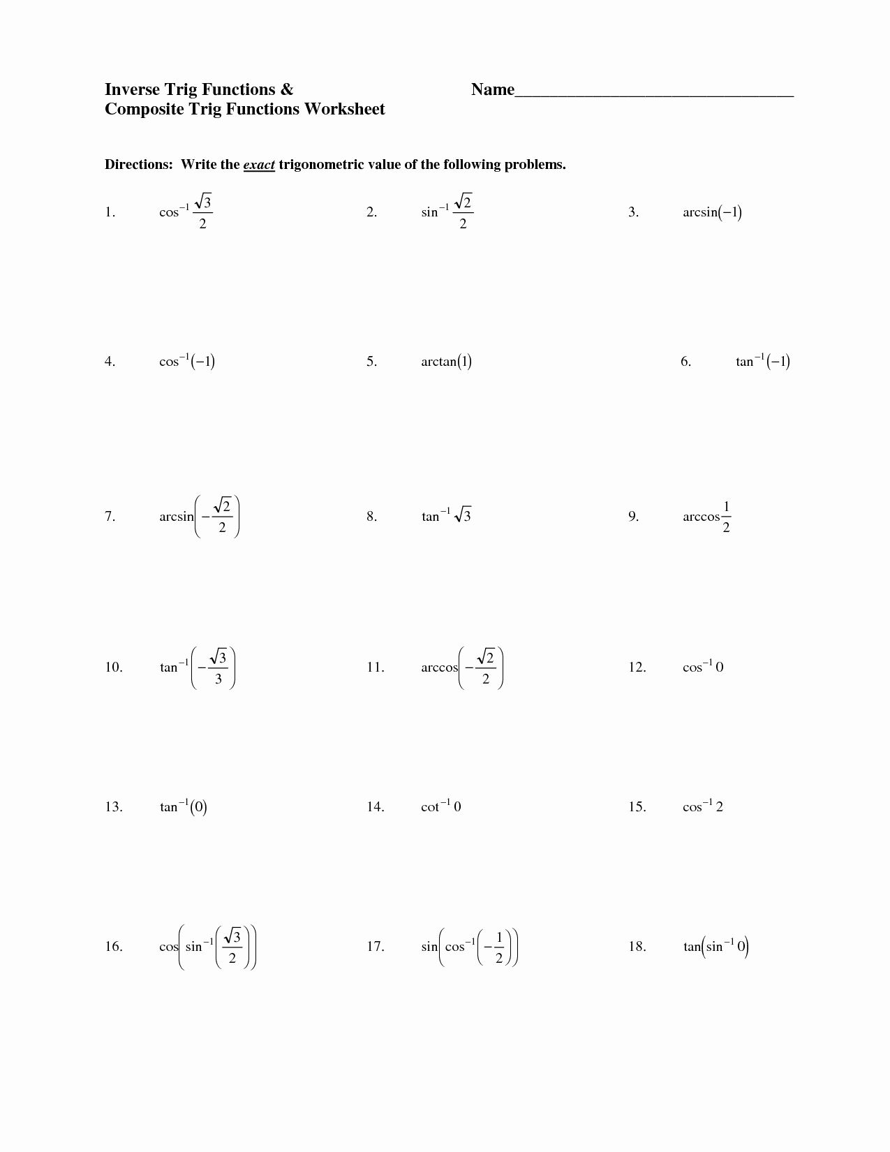 50 Right Triangle Trig Worksheet Answers In