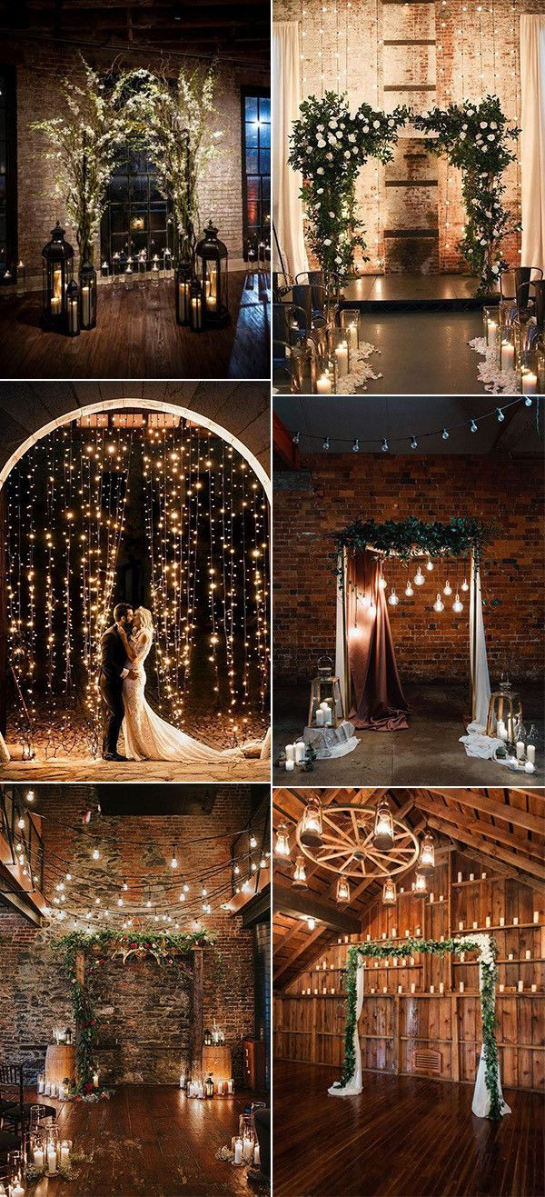 18 Whimsical Winter Wedding Arches and Backdrops – Everything About The House
