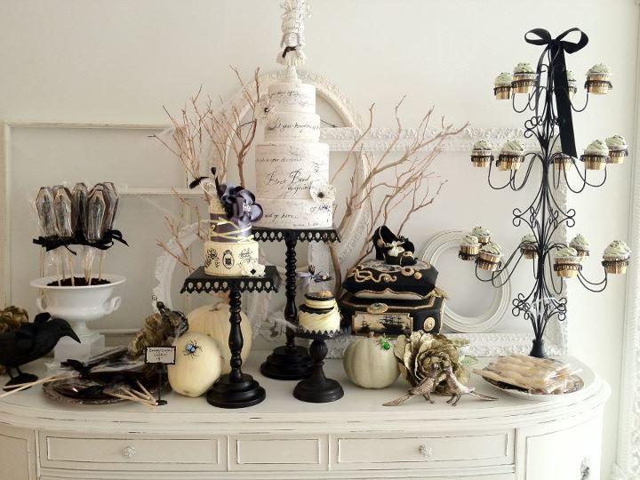 amazing cake table for halloween wedding cake opera toronto