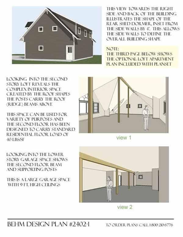 Carriage House 4 Car Garage Plans With Loft 2402 1 By Behm Design Carriage House Plans Garage Plans With Loft Garage Plans