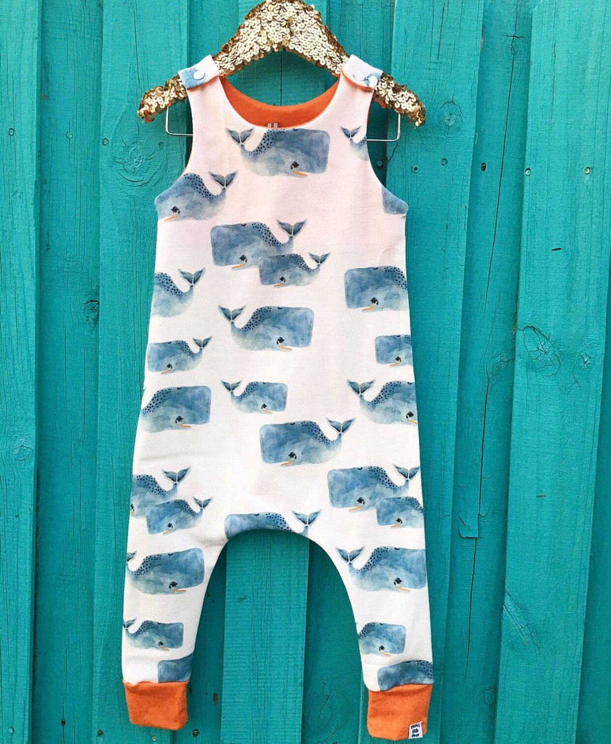 Whales Baby Romper, Baby Clothes, Organic Baby, Gender Neutral Baby ...
