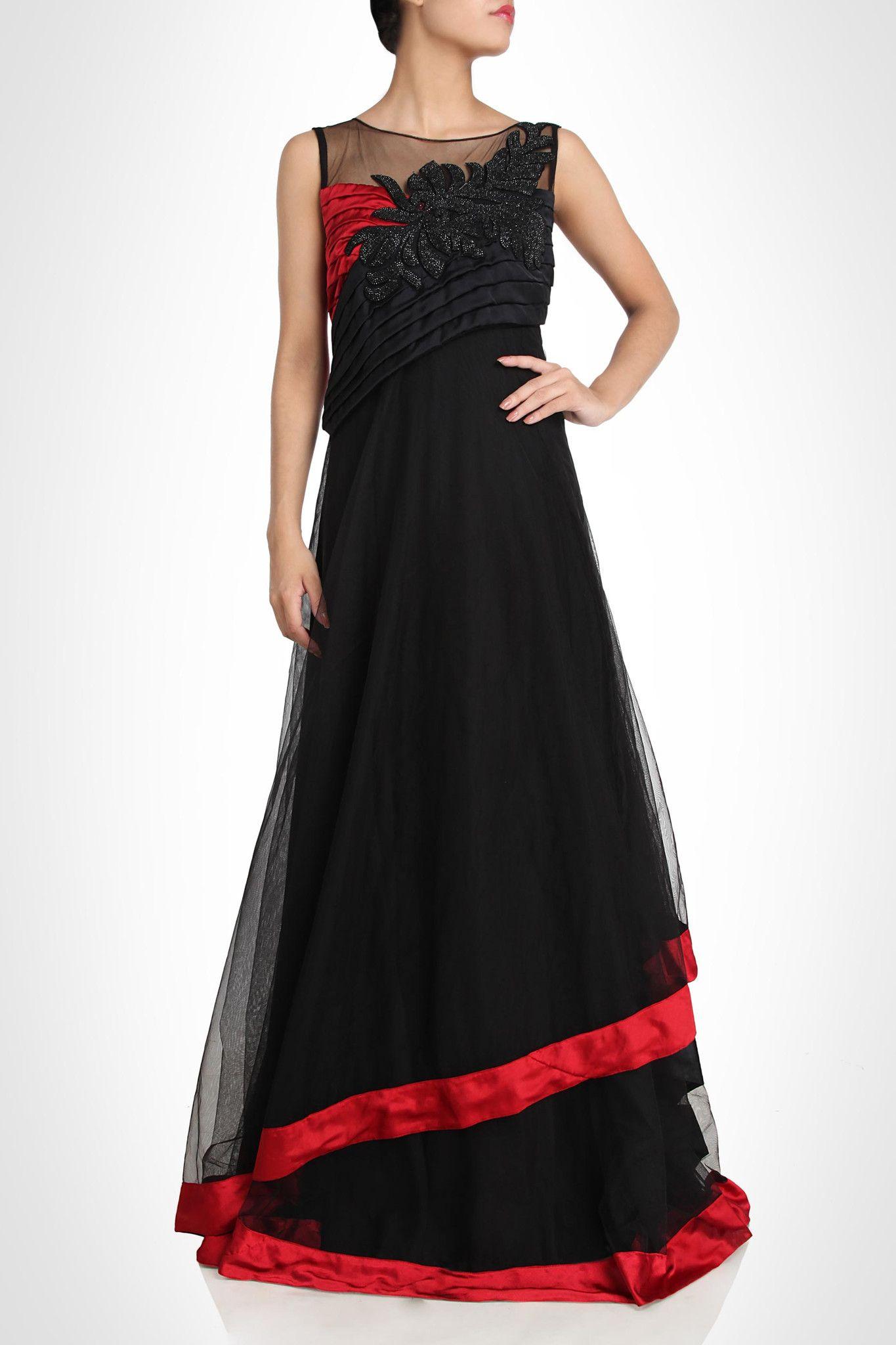 Color Designer black color designer gown – panache haute couture http