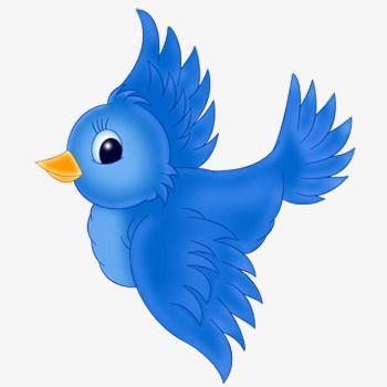 Blue Flying Bird Png And Clipart Cartoon Clip Art Cartoon Birds Bird Clipart