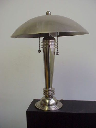 art nouveau lamps australia vintage deco mushroom lamp chrome made in reproductions floor sydney