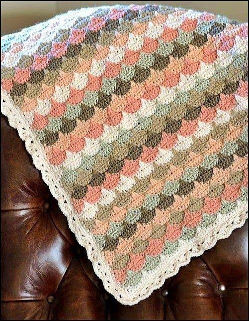 crochet fabric , CROCHET - GANCHILLO - PATRONES - GRAFICOS: MANTITAS ...