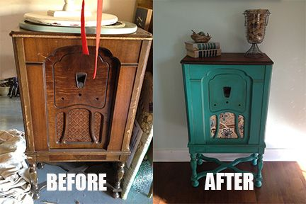 Vintage Radio Cabinet Painted With Ascp In Florence With A