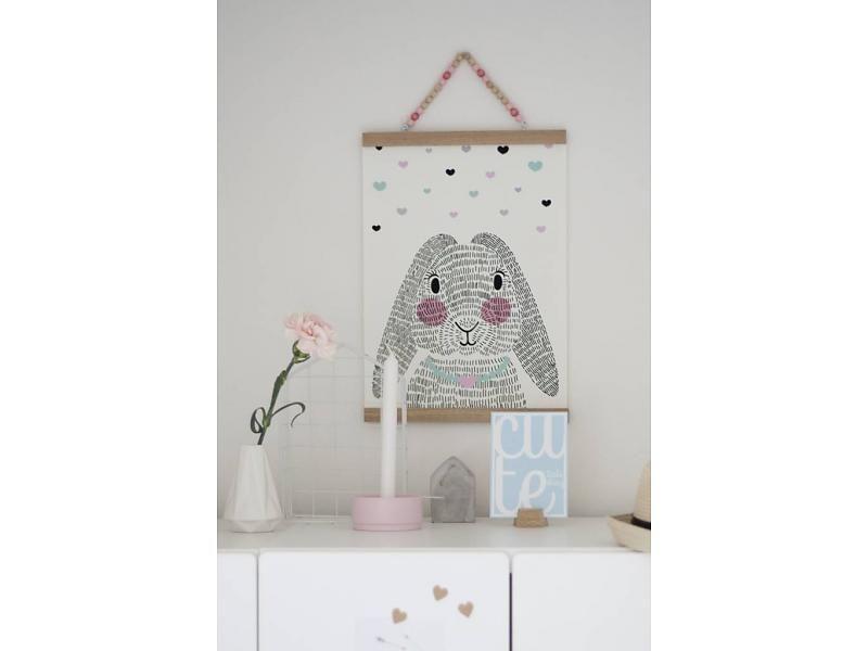 Poster Babykamer Pastel : Sparkling paper poster mrs. rabbit babykamer pinterest rabbit