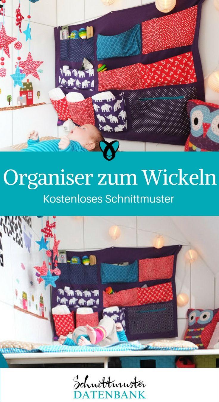 Wickelorganiser Organiser zum Wickeln Wandutensilo Utensilo für ...