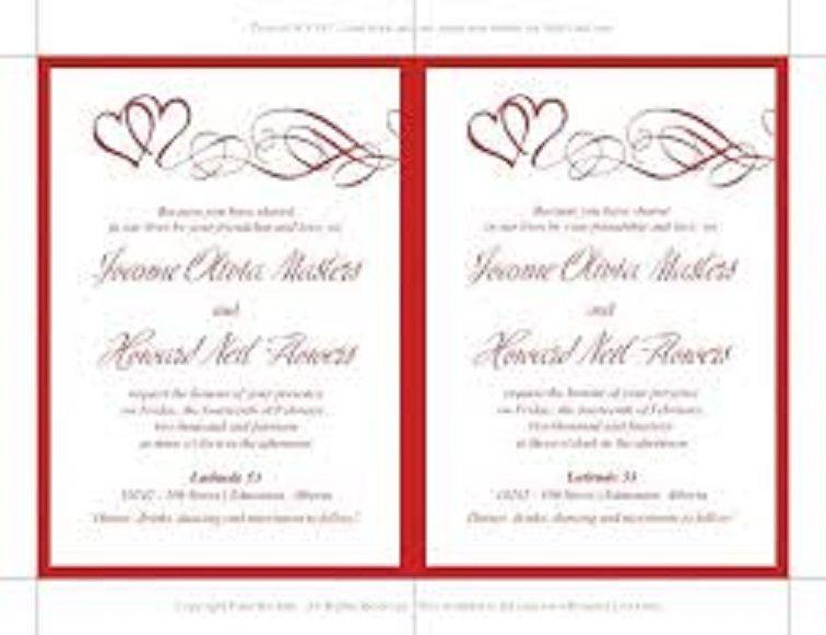Double Heart Wedding Invitation Templates Wedding Invitations In