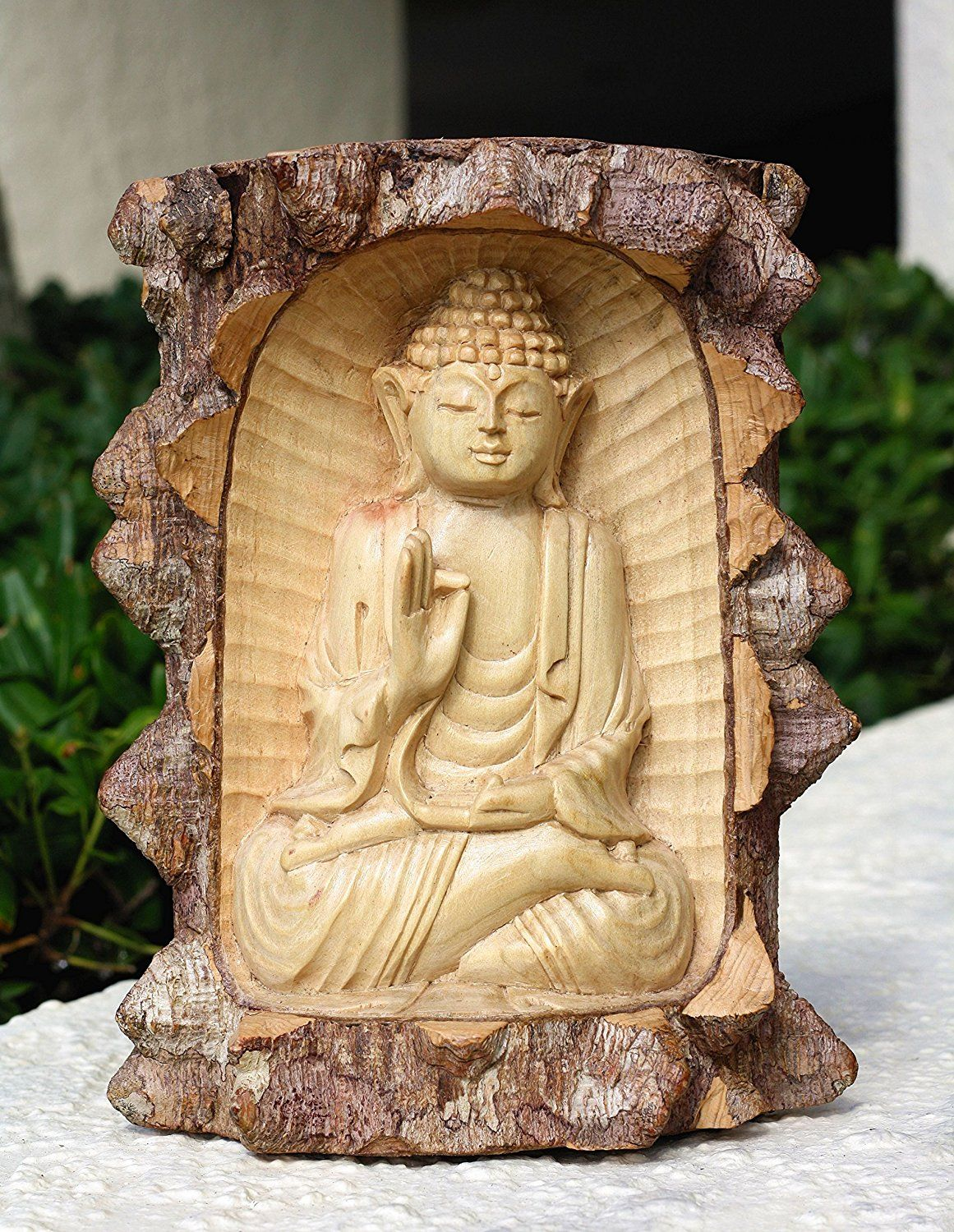 Wooden Hand Carved Buddha Statue Meditation From Crocodile Wood Home ...