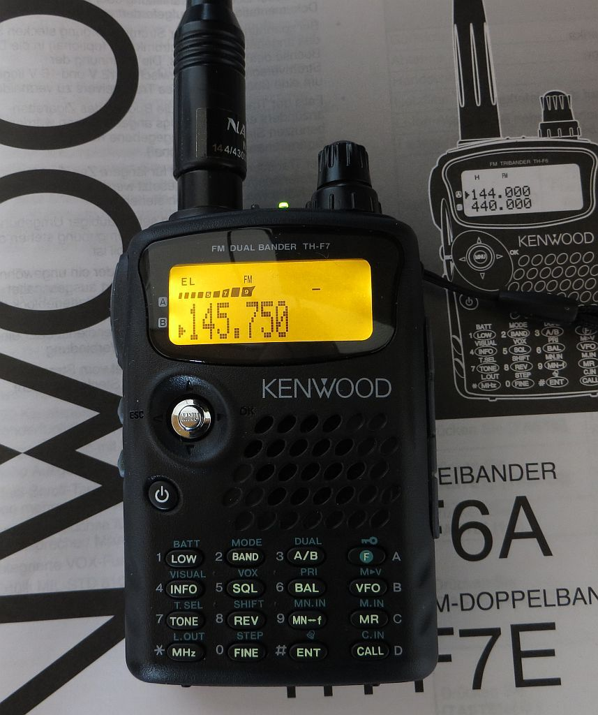 Kenwood TH-F7e Dual Band handheld with general coverage, all mode