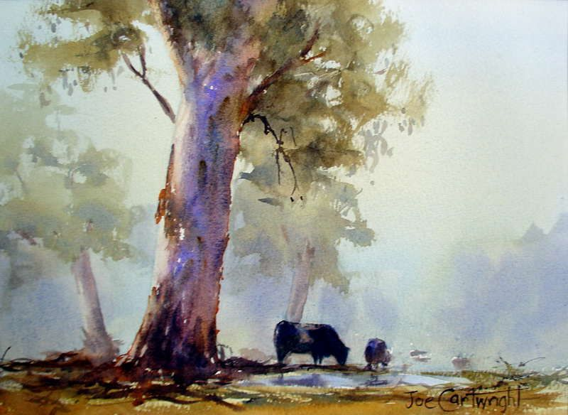 Watercolour By Julian Bruere Australia October Light