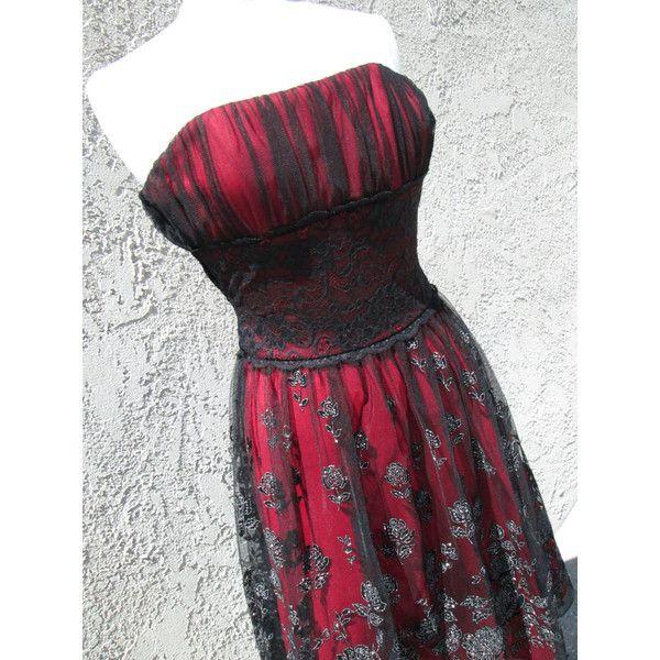 "Stunning Goth Type Rocker Prom/ Party Dress ""Rock Lobster"