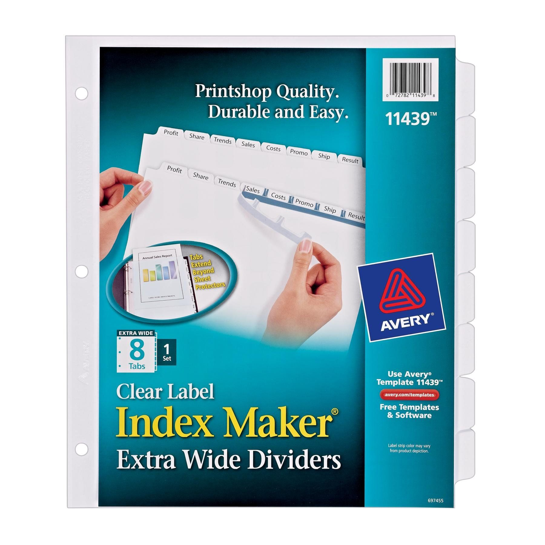 for your portfolio amazon com avery index maker extra wide clear