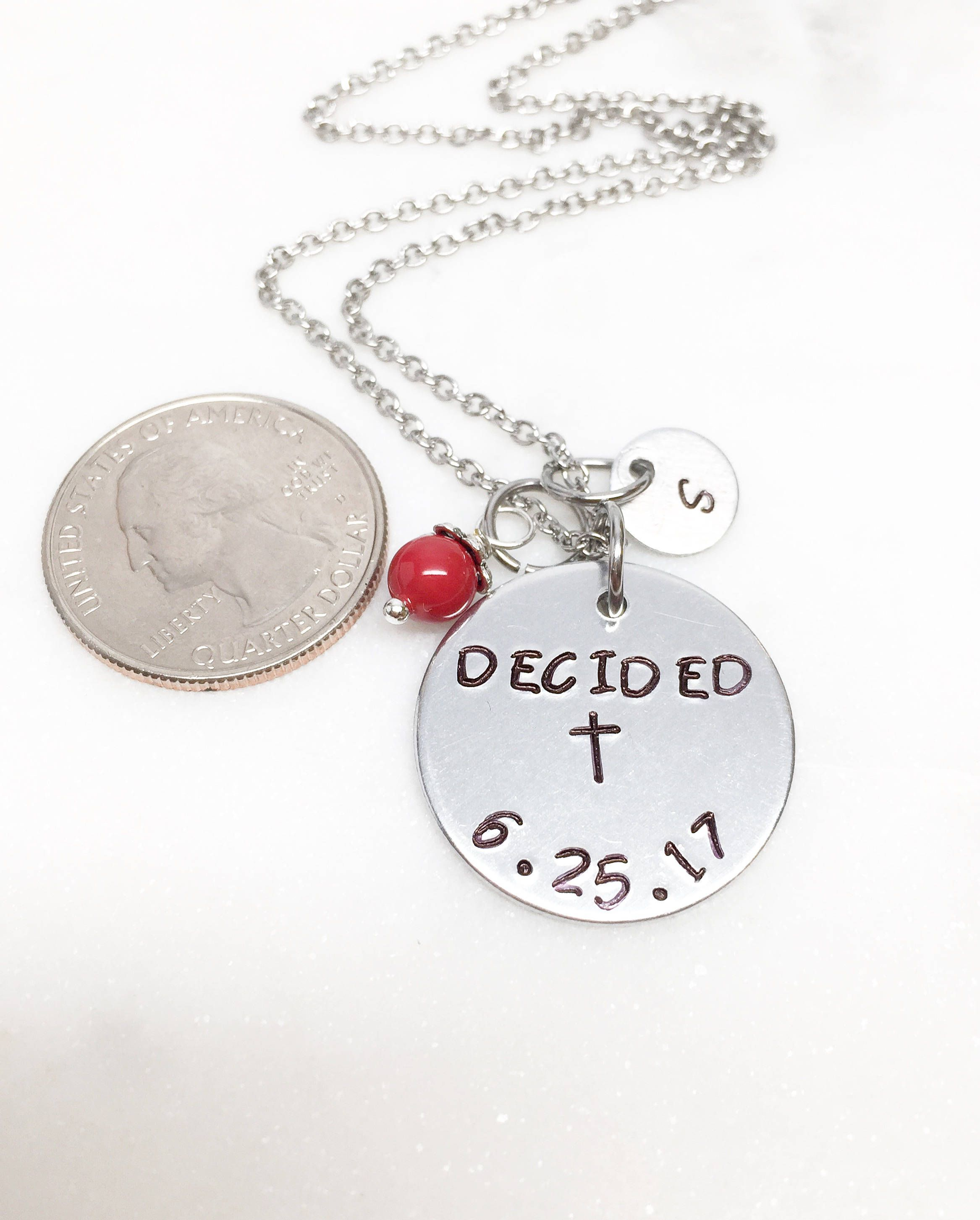 distinctlyivy p img jewelry baptism necklace handstamped cross