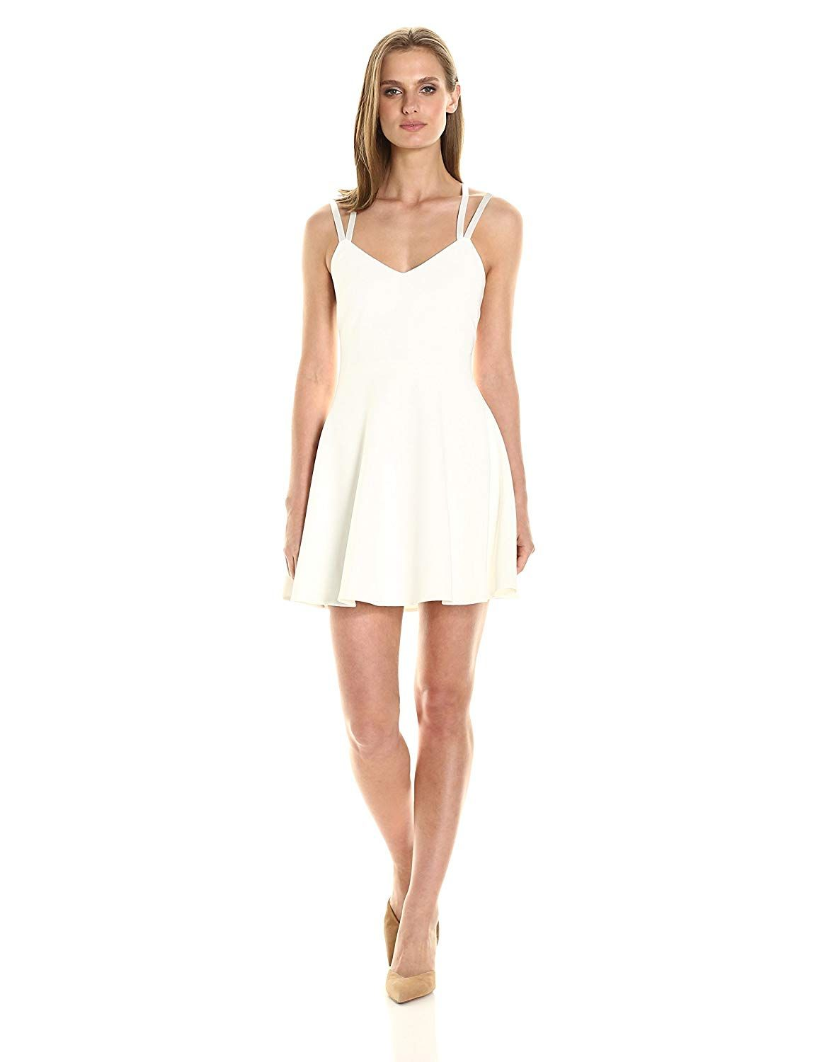 French Connection Womens Whisper Light Sleeveless Strappy Stretch Mini Dress