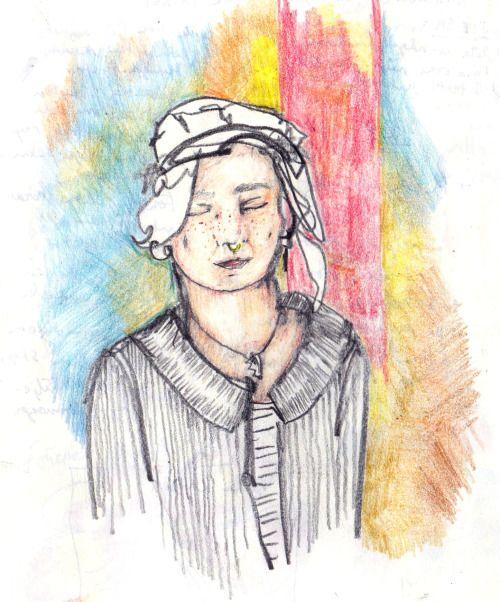 """dear friend lisette - """"spårar du så spårar jag"""" -  colour pencil drawing by @viktoriansk"""