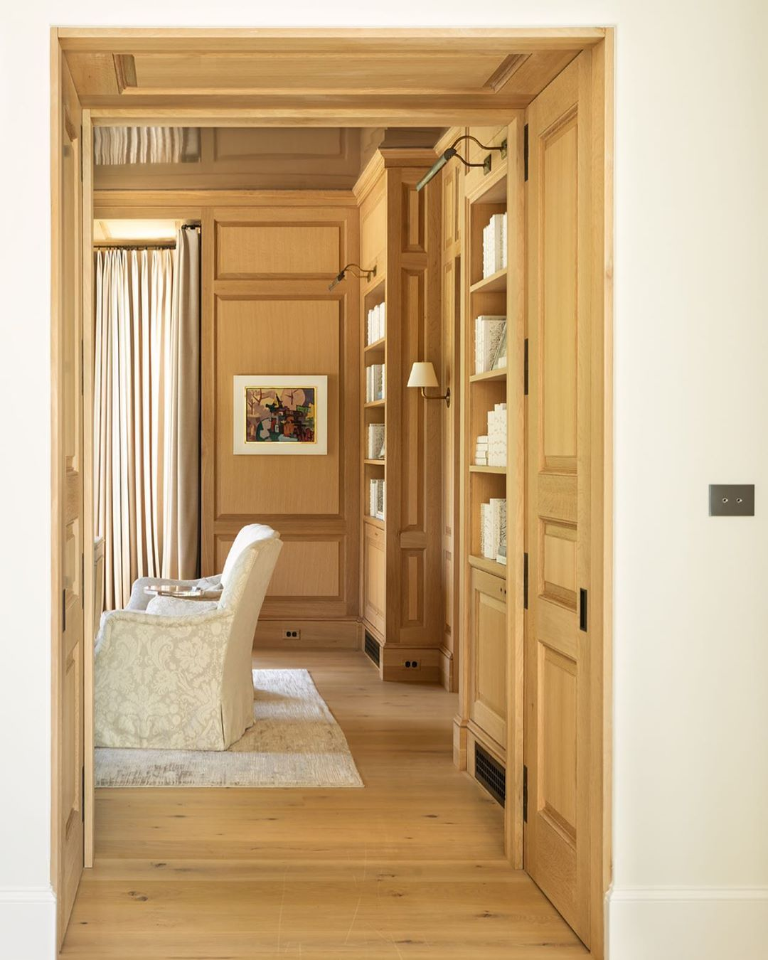 """Wood Paneled Library: Anne Decker Architects On Instagram: """"This Intimate"""