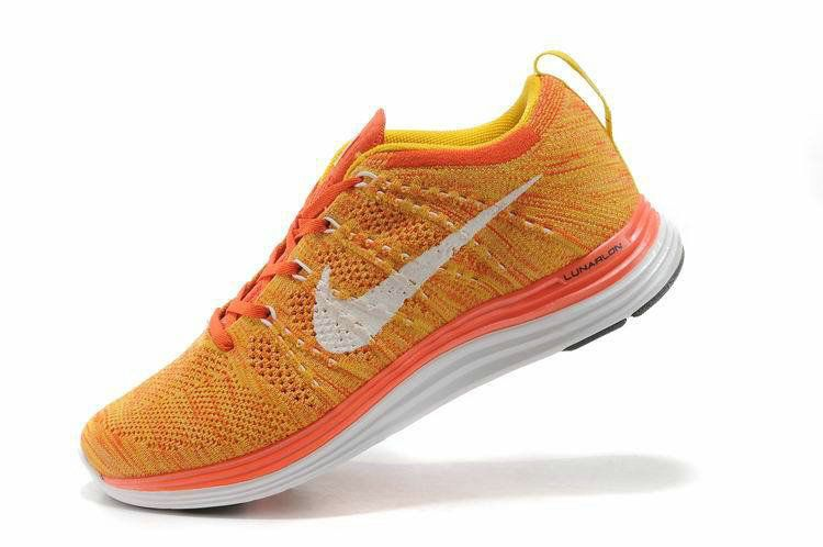 new style c0e12 5a374 Authentic New Arrival 2018-2019 Nike-Flyknit-Lunar1+-Mens-Vivid-Orange-Fresh -Yellow-Summit-White-554887-881