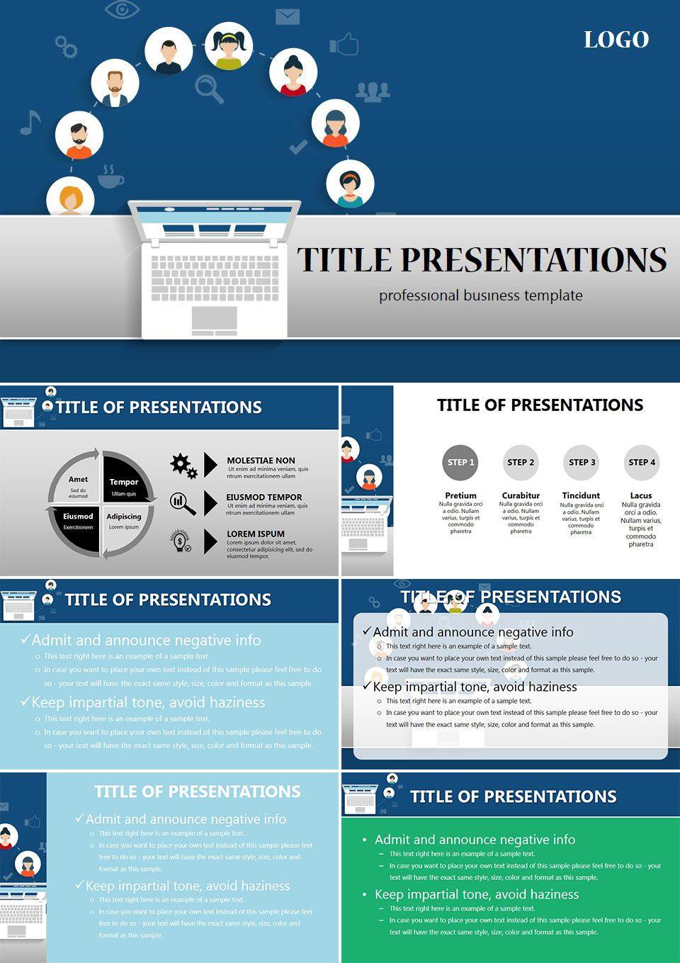 social media analytics powerpoint templates | powerpoint templates, Presentation templates