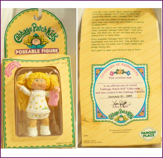 Sale 1985 Cabbage Patch Doll In Original Package Vintage Etsy Cabbage Patch Dolls Cabbage Patch Kids Cabbage Patch Kids Dolls