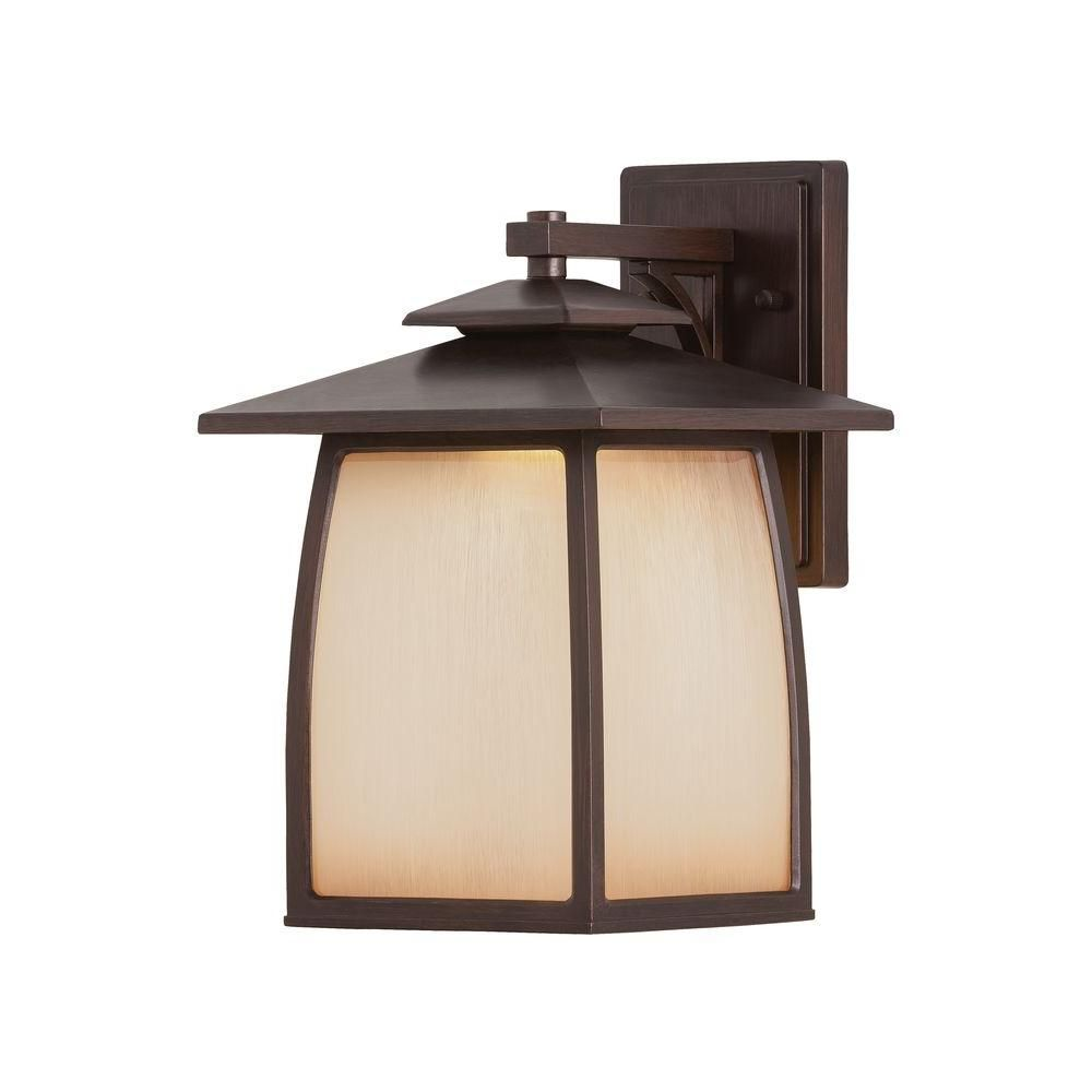 Wright house light sorrel brown wall lantern brown walls brown