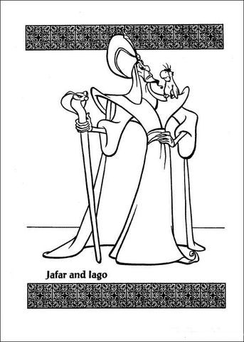 Jafar And Lago Coloring Page Coloring Pages Coloring Pages For Kids Disney Coloring Pages