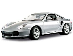 The Burago Porsche 911 Turbo, is a diecast model car from this fantastic manufacturer in 1/18th scale. Bburago's stunning range of 1/18 die cast cars cover subjects old and new including famous car brands like Morgan, Porsche, Lamborghini and Maserati. Each model has been replicated in 1/18 scale and features a factory painted metal body with multiple coloured plastic detailing parts.