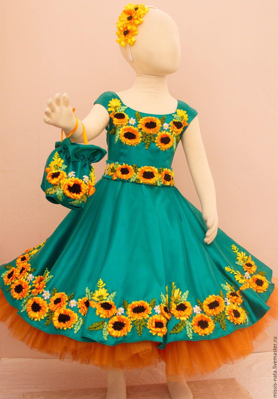 Купить или заказать Платье вышитое атласными лентами в интернет-магазине на  Ярмарке Мастеров. Платье 4d2625b1c3c87