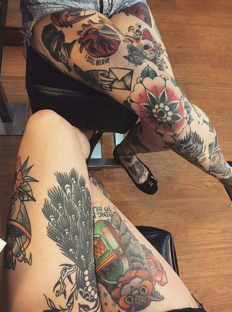 Pin by auds on tattoos Leg tattoos women, Leg tattoos