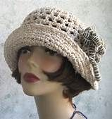 ladies crochet hat with crochet flowers - Bing Images