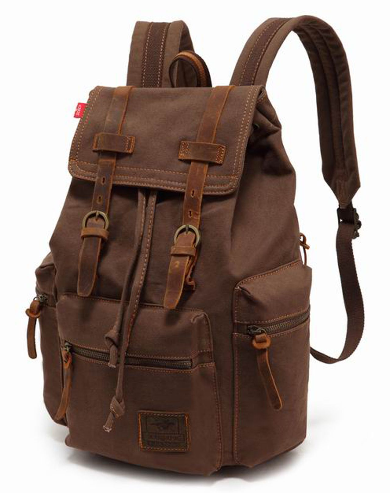 Details about Men Women Travel Canvas Backpack Rucksack Camping ... 122536ed99667