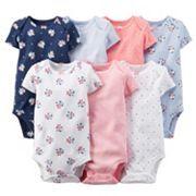 Carter's 7-pk. Floral Bodysuits - Baby Girl